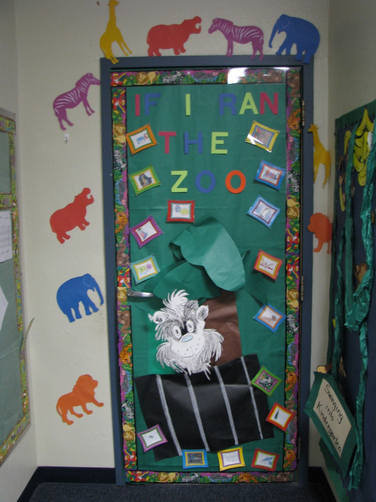 Glitter and Glue: March recap and door decor!