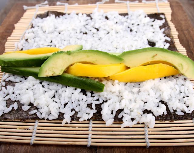 Oppskrift Hvordan Rulle Sushi Vegansk Hjemmelaget Sushi Maki Vegetarsushi Fiskefri