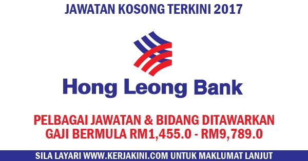 jawatan kosong terkini 2017 hong leong bank