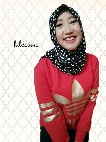 Tips Padu Padan Hijab Motif Cokelat Gosong By Hilda Ikka