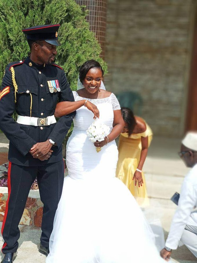 Photos: When a Soldier Marries his Best Friend… British Ghanaian UK based Navy Official, William Nii Quartey, marries his best friend; Starr FM's Linda Yaa Kumah #LIWI2018 Wedding