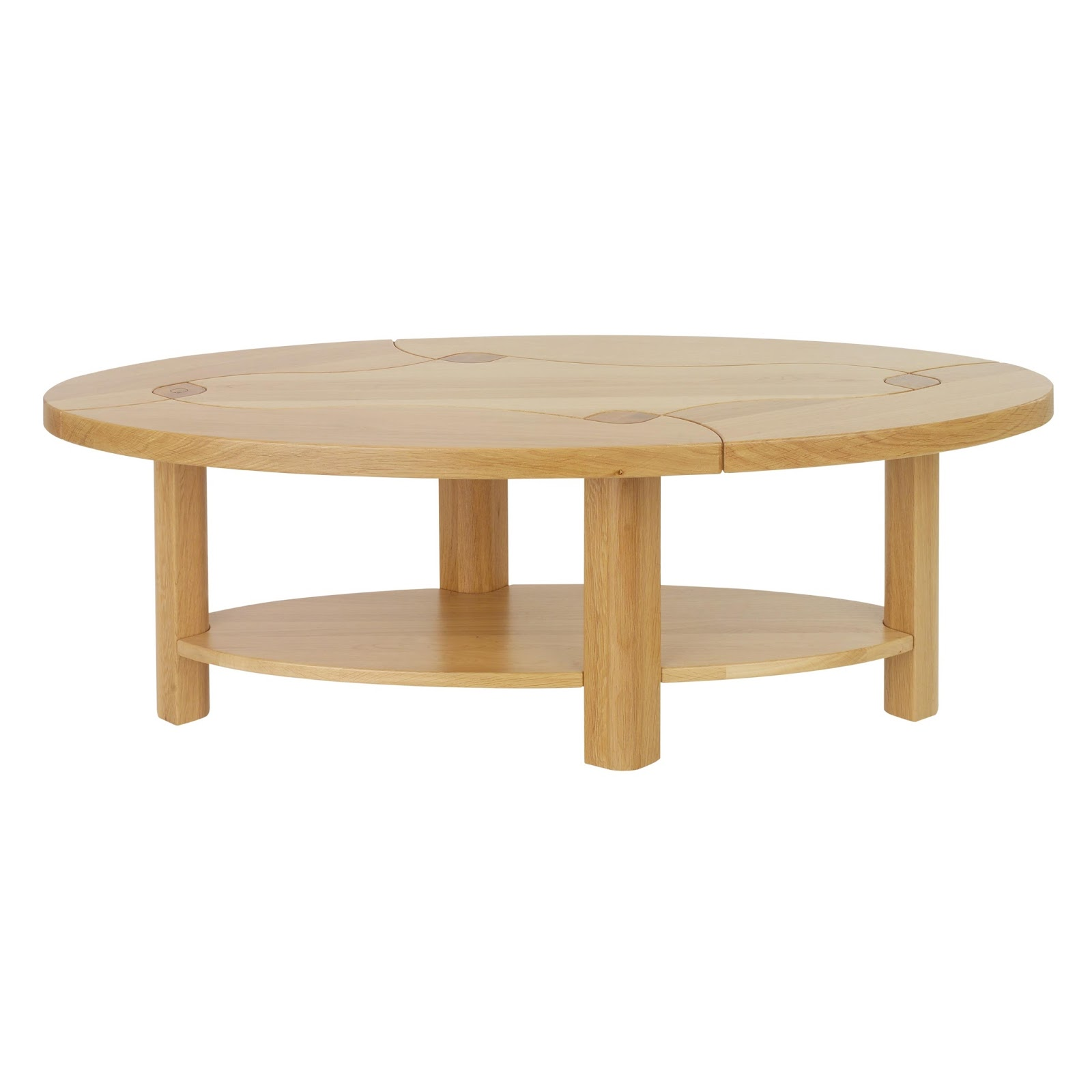 Coffee Table W Edge Table Natural Oak With Rustic Oak Dining Table