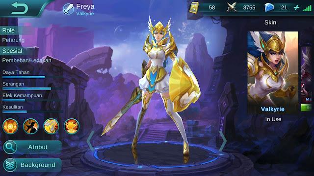 Hero Freya ( Valkrie ) High Damage Build/ Set up Gear