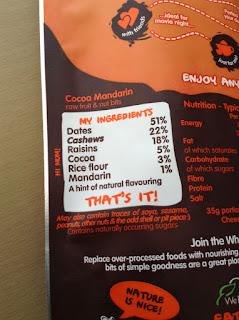 nakd posh bits cocoa mandarin