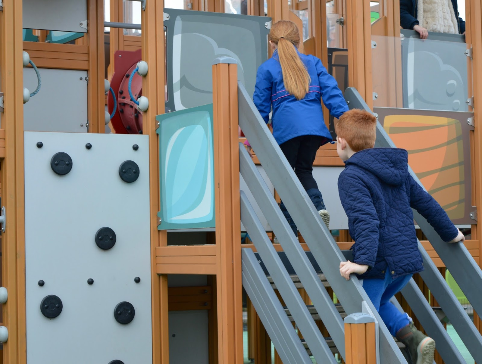 Visiting Angry Birds Activity Park at Lightwater Valley, North Yorkshire - climbing frame