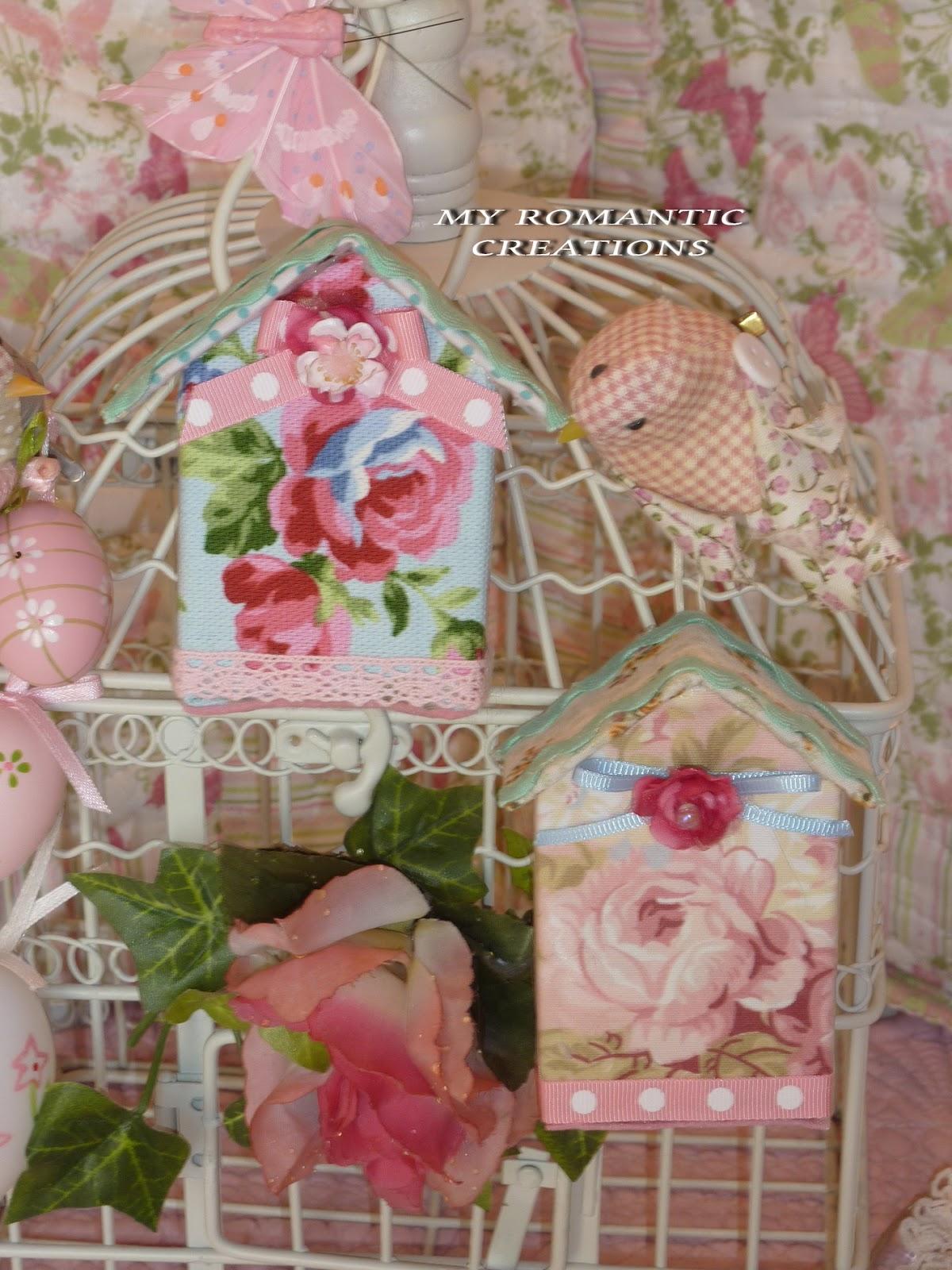 My romantic creations casette per gli uccellini shabby chic - Casa romantica shabby chic ...