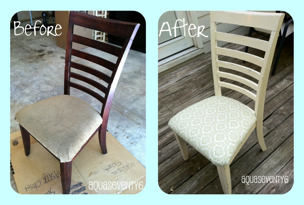 Aqua Seventy6 Formal Dining Chair Turned Funky Cottage Chair