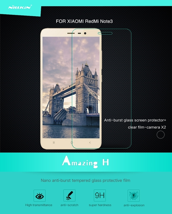 Xiaomi Redmi Note 3 Tempered Glass Jenama Nillkin