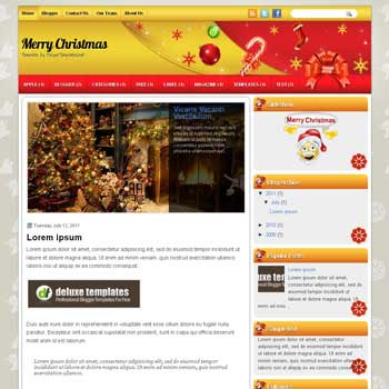 Merry Christmas blogger template. template blogspot magazine style. download template Merry Christmas blogger template