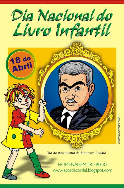 Resultado de imagem para dia de monteiro lobato dia nacional do livro infantil
