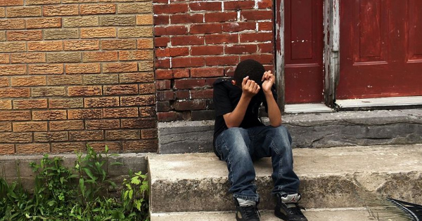 American child living in poverty