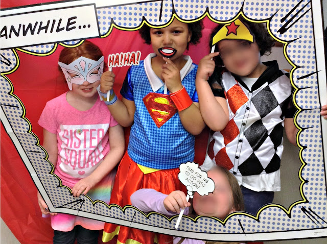How to Host a Super Girl Birthday | Photo prop fun