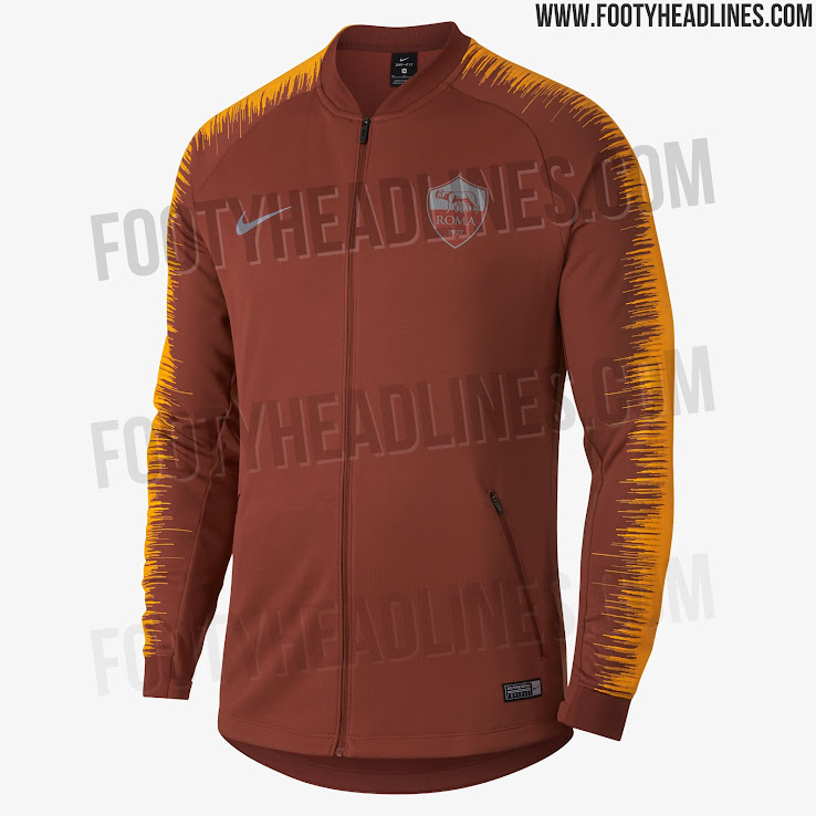 d1d59179385 Nike AS Roma 18-19 Champions League Training + Pre-Match Shirts + ...