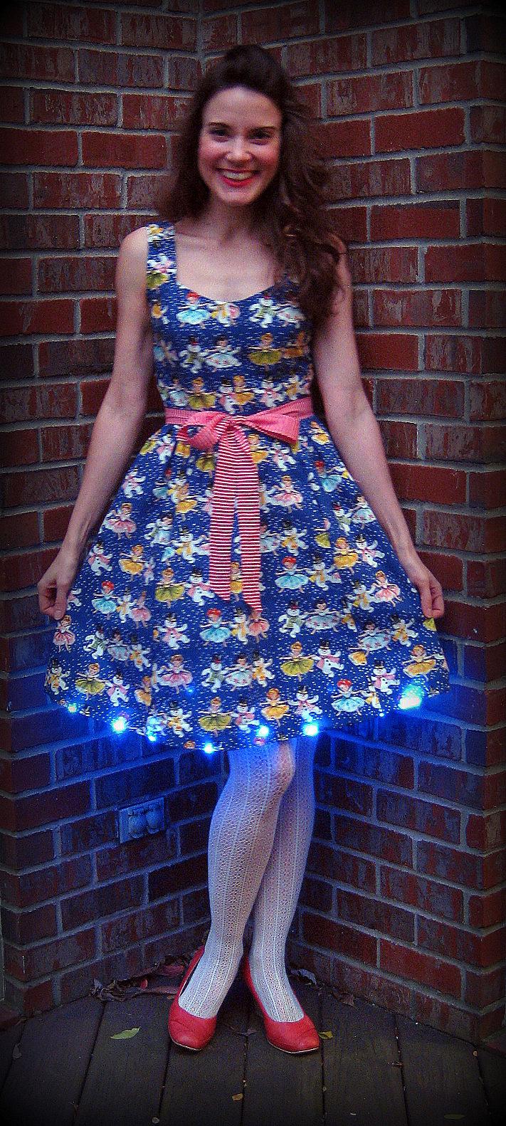 cassie stephens diy blue christmas dress