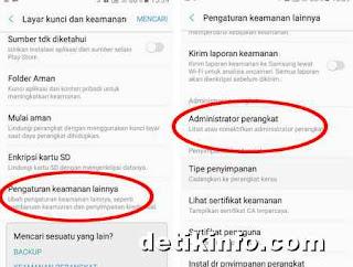 Cara Setting Administrator perangkat HP Samsung
