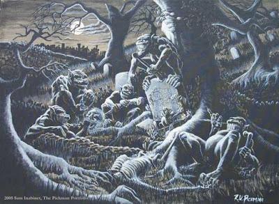 ghouls, entidades, canibalismo, mitologia, blog mortalha