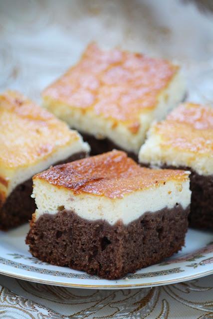 murzynek, masa serowa, ciasto, czekoladowe