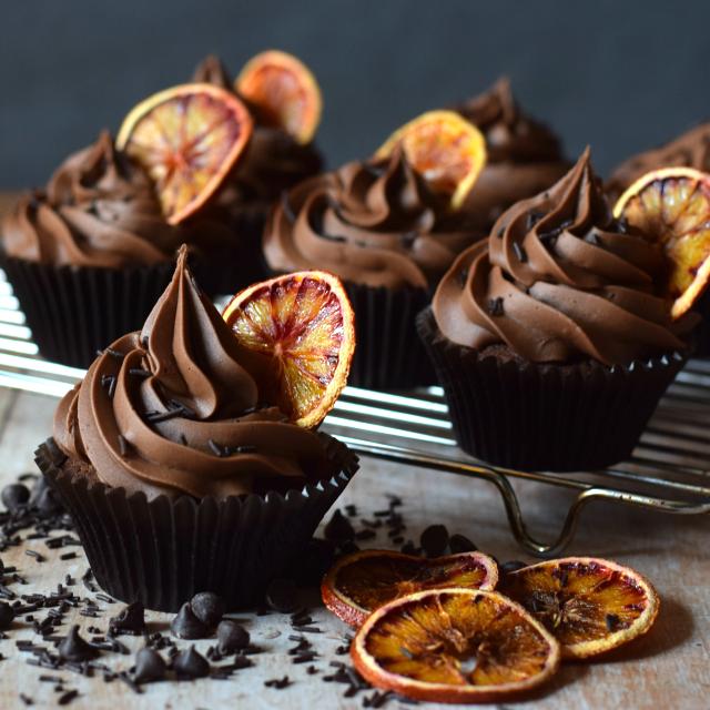 Double Chocolate Orange Cupcakes