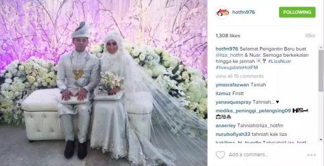Liza Hot fm Sah Bergelar Isteri Kepada Mohd. Khairil Anuar