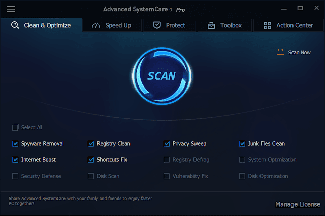 iobit advanced systemcare 9 pro serial key free download