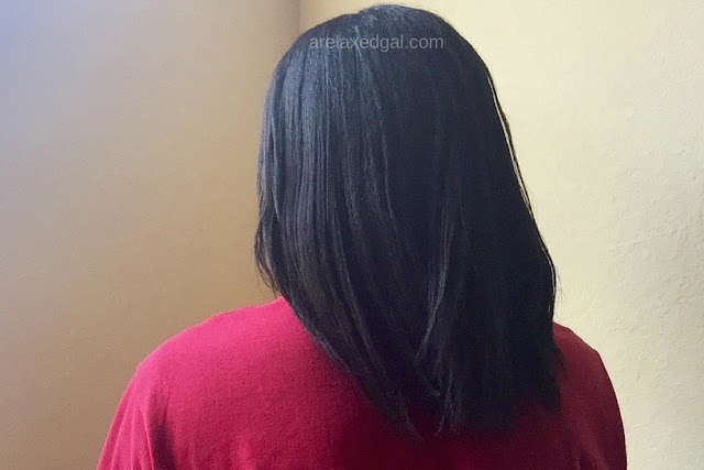 See what products and techniques I used during my wash day at 11 weeks post relaxer touch up to get smooth results. | arelaxedgal.com