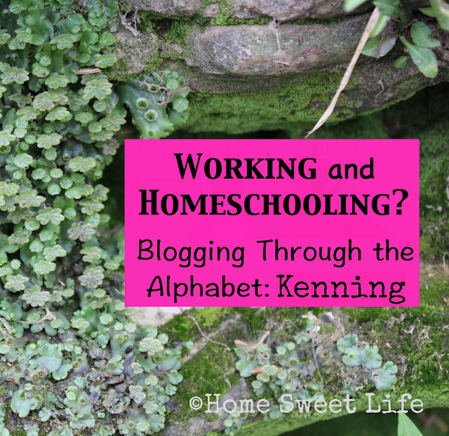 kenning, blogging through the alphabet, working and homeschooling