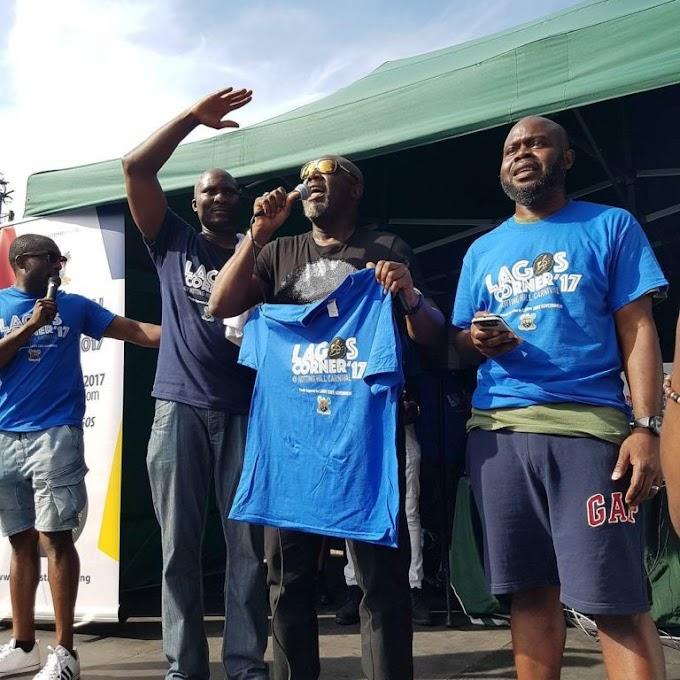 Fast Rising Nigerian artiste, Sen. Dino Melaye performs his song 'Ajekun Iya' in UK carnival