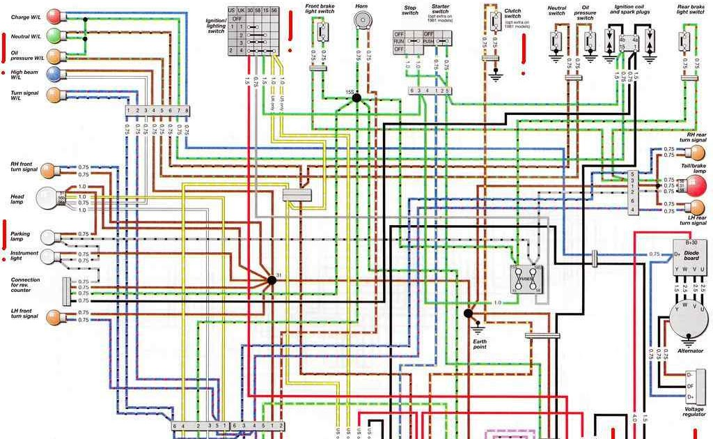 Wiring Diagrams of a BMW R80GS model | All about Wiring