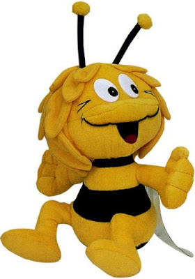 Foto de la abeja Maya en peluche