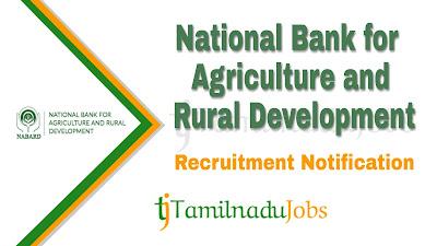 NABARD Recruitment notification 2019, central govt jobs in tamilnadu, govt for graduate in tamilnadu