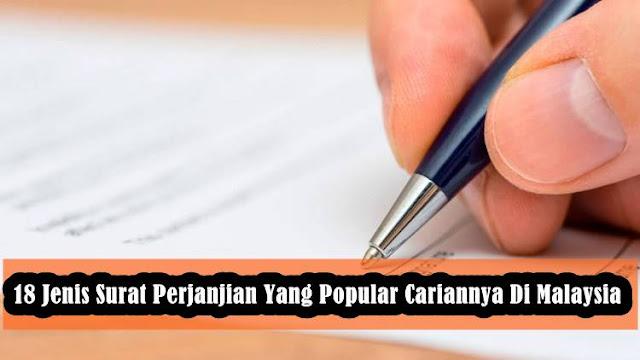 18 Jenis Surat Perjanjian Yang Popular Cariannya Di Malaysia
