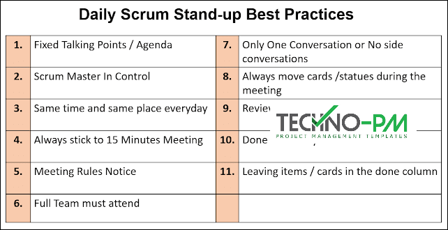 Daily Stand-up Best Practices, agile scrum meetings, Scrum Meetings Best Practices