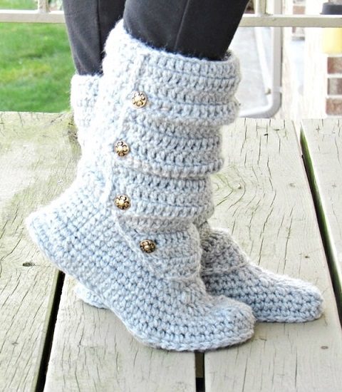 Crochet Pattern for Tall Slouch Boots