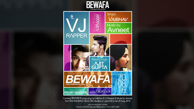 VJ Rapper Youtube and Social media Banners for a Singer - Ajit Gupta Creation