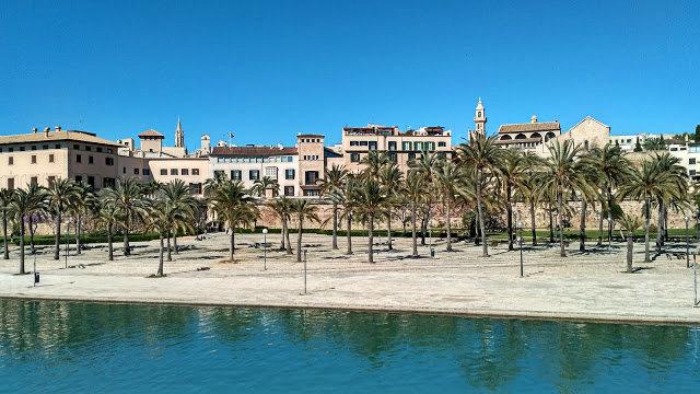 widok na zatokę  i katedrę w stolicy Majorki