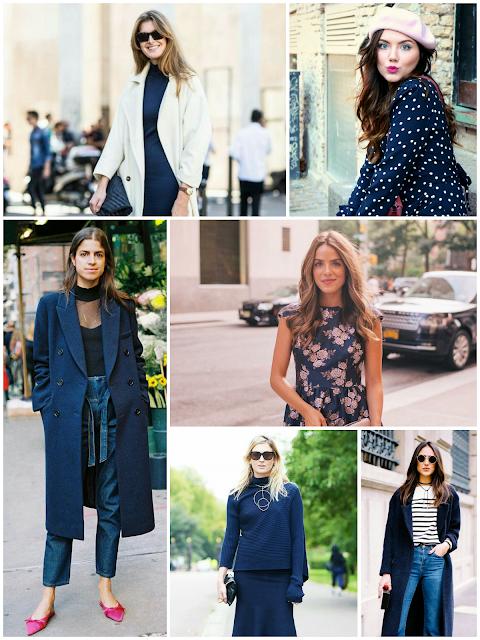 Outfits con azul oscuro