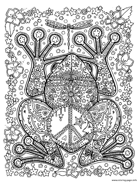 Adult Animals Big Frog Printable Coloring Pages Book