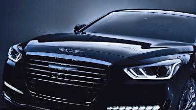 New 2017 Genesis G90 front look