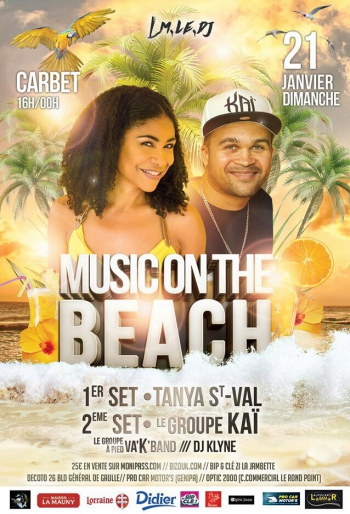 affiche-music-on-the-beach-martinique-tanya-st-val-kai-richard-cave