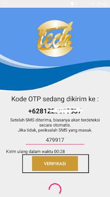 cara verifikasi nomor hp di aplikasi tambang emas android