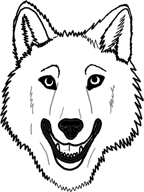 Wolf Face Coloring Pages