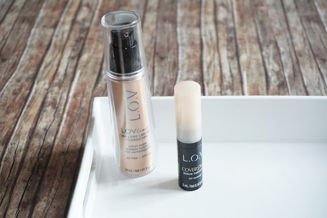 L.O.V Cosmetic LOVtime 18H Long Lasting Foundation in 010 Ivory Elegance, COVERstory Serum Concealer in 010 Silky Nude