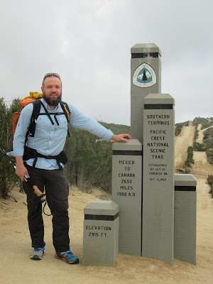 Adam standing at southern terminus