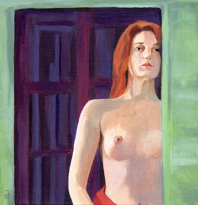 acrylic female nude painting