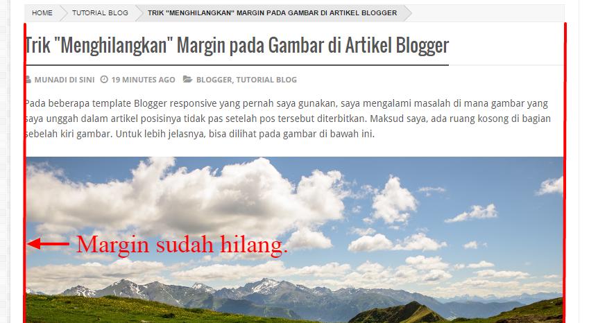 """Hasil Trik """"Menghilangkan"""" Margin pada Gambar di Artikel Blogger"""