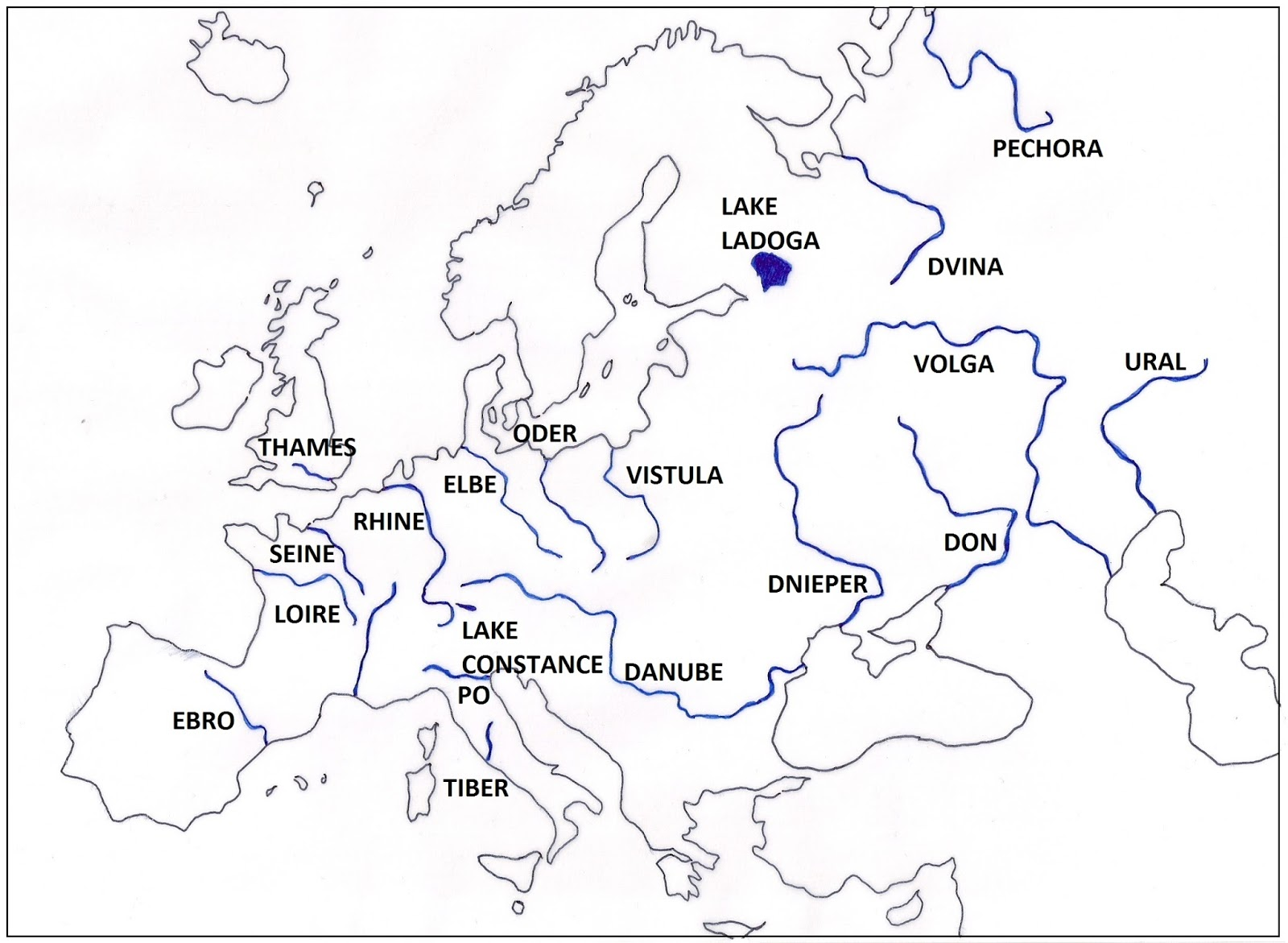 we are in grade 6 november 2015 The Peninsula in Europe Are Located Where lakes are usually fed by rivers which flow into them but they also receive rainfall lake ladoga is the biggest lake in europe other important lake is lake