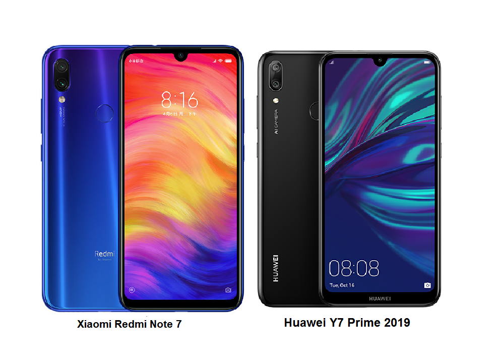 Tspn1 Xiaomi Redmi Note 7 Vs Huawei Y7 Prime 2019 Specs Comparisons