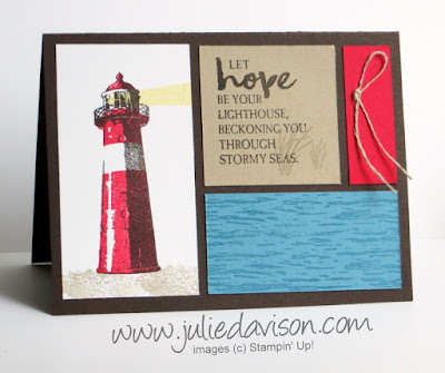 Stampin' Up! High Tide Color Block Card ~ 2017 Occasions Catalog ~ www.juliedavison.com