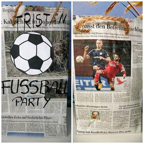 DIY Papiertüten basteln für Fußballparty