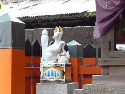大仁八阪神社稲荷社熊野神社九重稲荷清高稲荷白狐